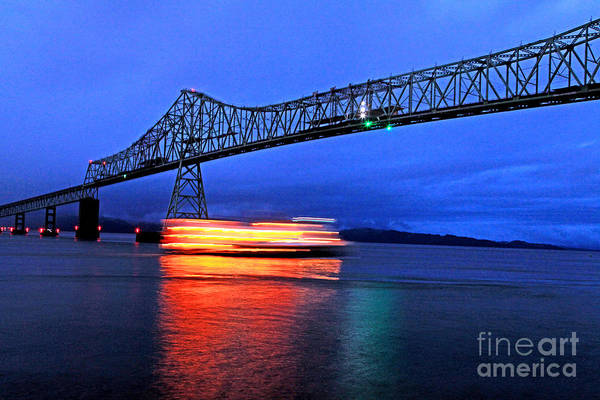 Astoria Bridge Photograph - Cruising In Slow Motion by Margaret Hood