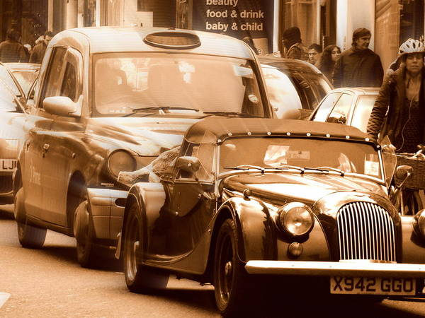 Wall Art - Photograph - Cruising London In Classic Style  by Funkpix Photo Hunter