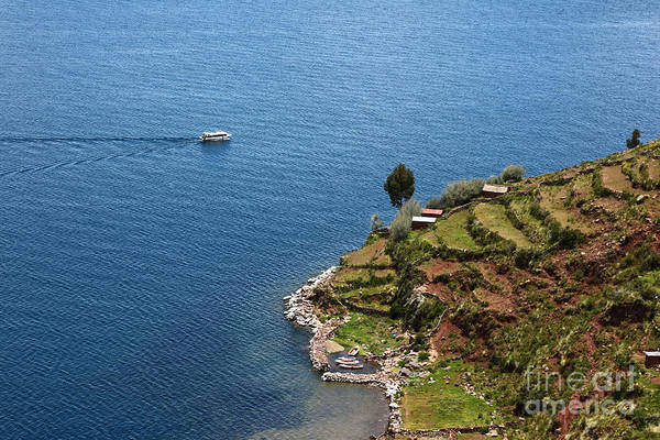 Photograph - Cruising On Lake Titicaca by James Brunker