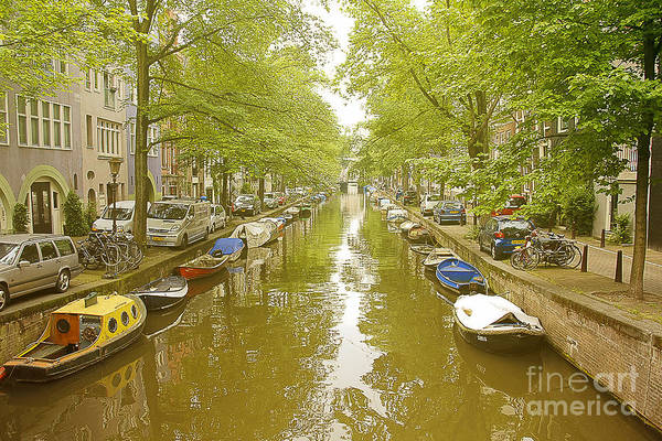Houseboat Photograph - Cruising On The Canal II by Ivy Ho