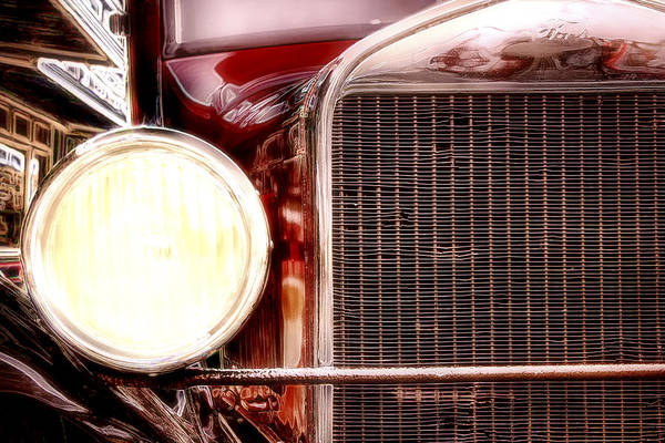 Posterize Photograph - Cruising The City Nights - Ford Model A - Classic Car by Jason Politte