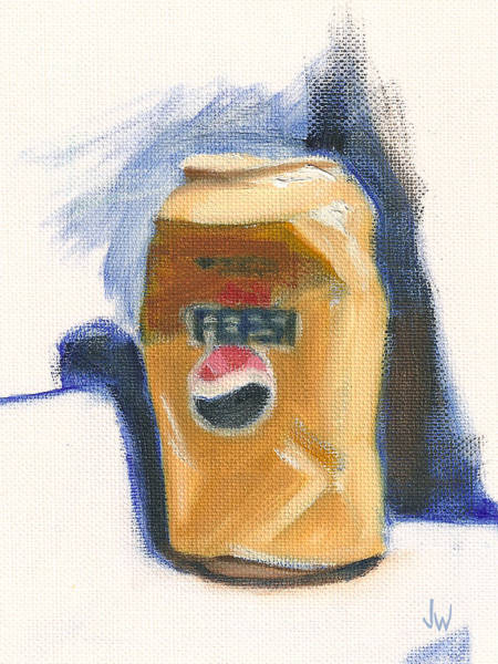 Painting - Crushed Can by Joe Winkler