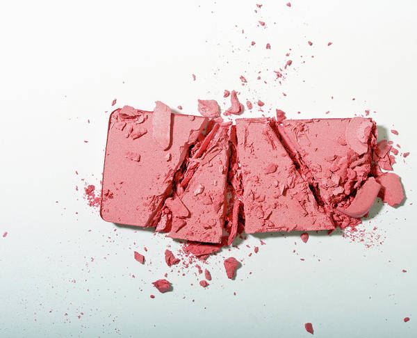 Break Up Photograph - Crushed Powder Blush by Larry Washburn