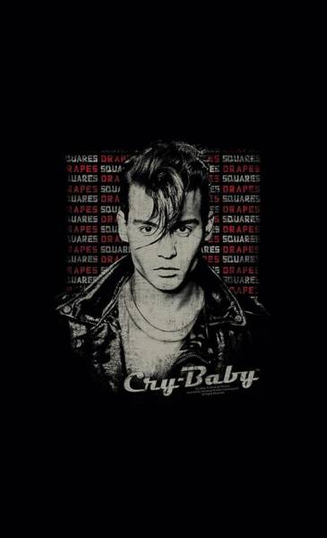 Crying Digital Art - Cry Baby - Drapes And Squares by Brand A
