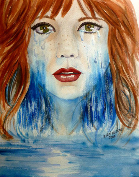 Painting - Crying A River by Michal Madison