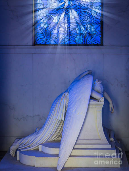 Cemetaries Wall Art - Photograph - Crying Angel by Inge Johnsson