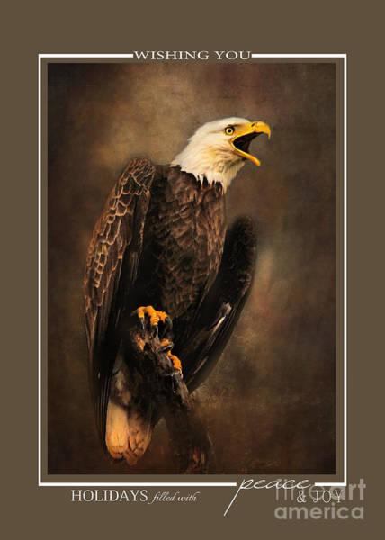 Photograph - Crying Bald Eagle Christmas Cards by Jai Johnson