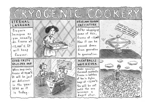 Prepare Drawing - Cryogenic Cookery by Roz Chast