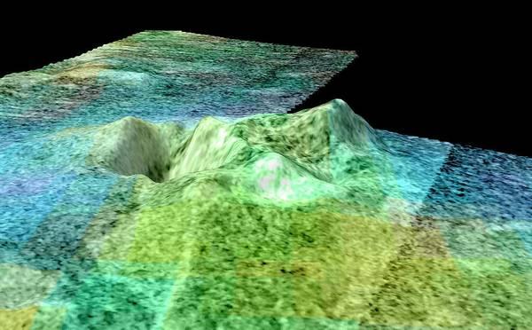 Ir Photograph - Cryovolcano On Titan by Nasa/jpl-caltech/asi/usgs/university Of Arizona/science Photo Library