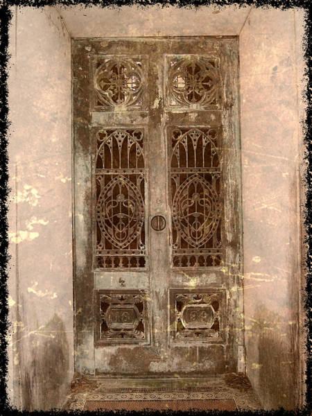 Cementery Photograph - Crypt Doors by Pat Exum