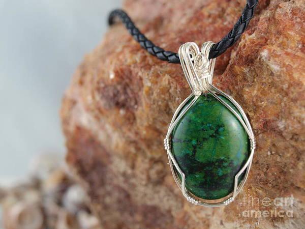 Photograph - Crysocolla Necklace by Vivian Martin