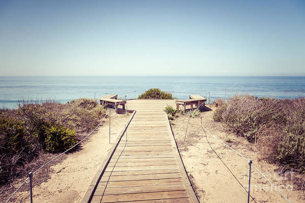 Crystal Coast Photograph - Crystal Cove Overlook Retro Picture by Paul Velgos