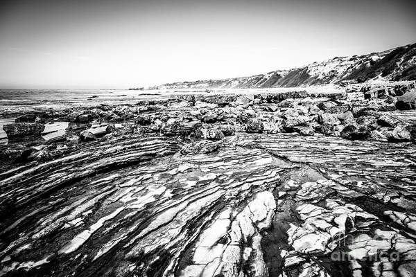 Crystal Coast Photograph - Crystal Cove Tide Pools In Black And White by Paul Velgos