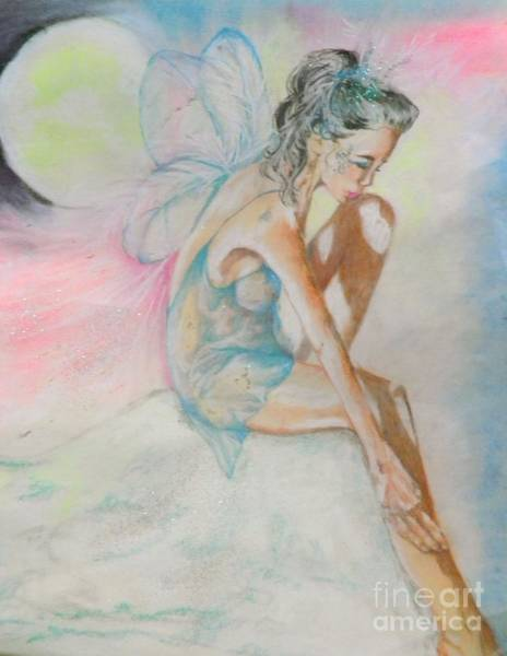 Wall Art - Pastel - Crystal Ice Fairy by Sandra Valentini