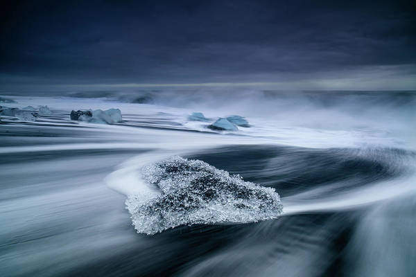 Waving Photograph - Crystal Ice by Luigi Ruoppolo
