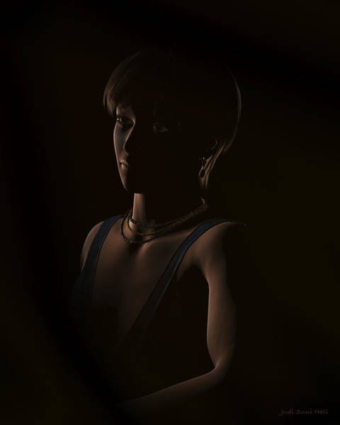 Digital Art - Crystal In The Dark Portrait by Judi Suni Hall