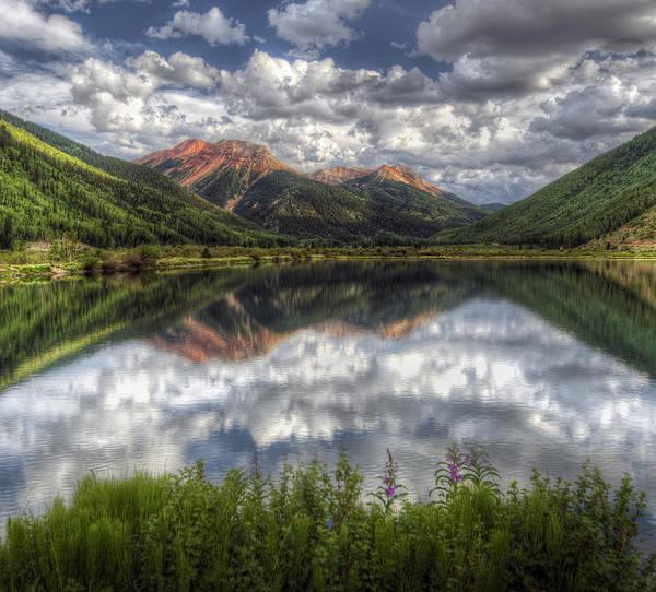 Rocky Mountain Digital Art - Crystal Lake San Juan Mountains by Georgia Fowler