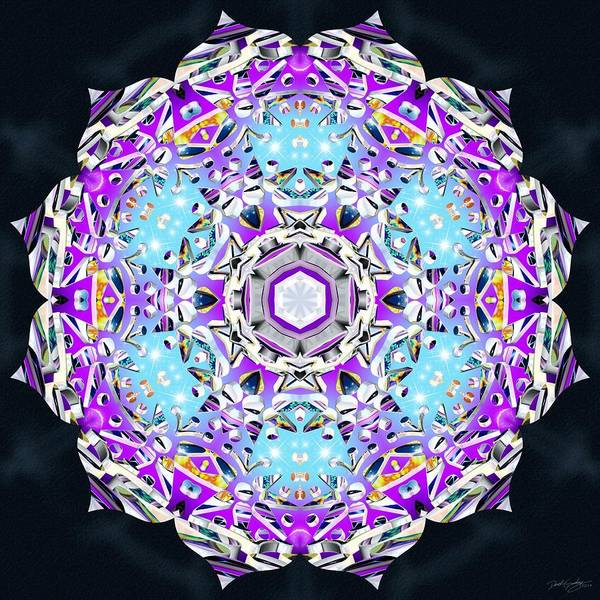 Digital Art - Crystal Lotus by Derek Gedney