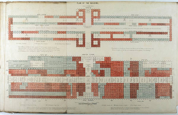 Steel Drawing - Crystal Palace; Floor Plan         Date by Mary Evans Picture Library