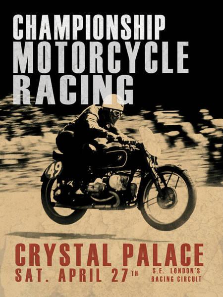 Triumph Motorcycle Wall Art - Photograph - Crystal Palace Motorcycle Racing by Mark Rogan