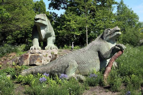 Wall Art - Photograph - Crystal Palace Park Dinosaur Models by Martin Bond/science Photo Library