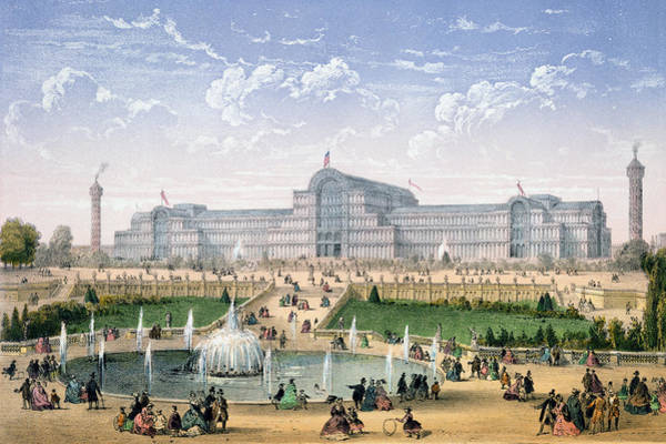 Pleasure Drawing - Crystal Palace, Sydenham, C.1862 by Achille-Louis Martinet