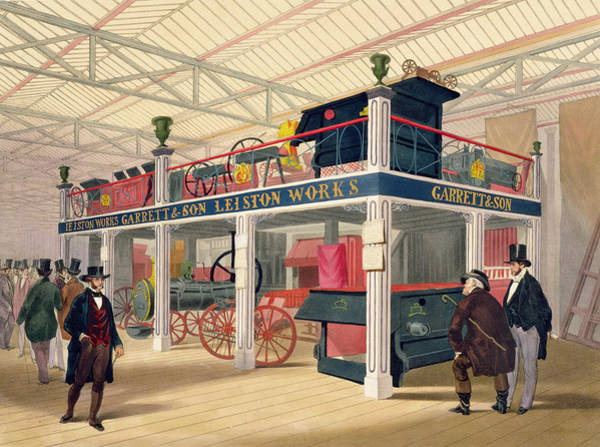 Locomotive Drawing - Crystal Palace, The Agricultural Court by C.T. Dolby