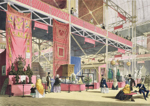 Chinese Drawing - Crystal Palace, The Tunis And China by Joseph Nash