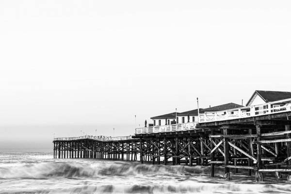 Photograph - Crystal Pier Dawn In Black And White by Priya Ghose
