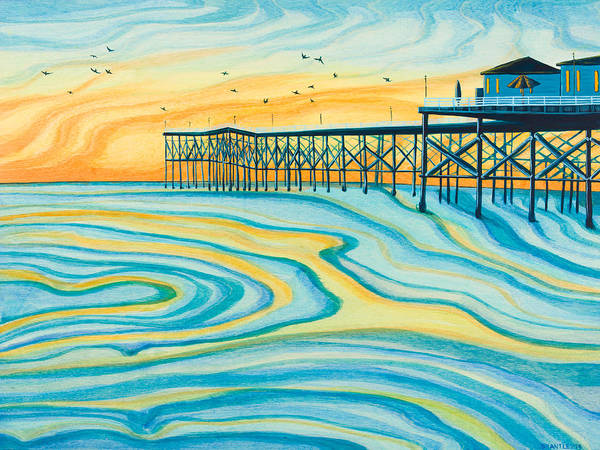 Summer Painting - Crystal Pier San Diego by Emily Brantley