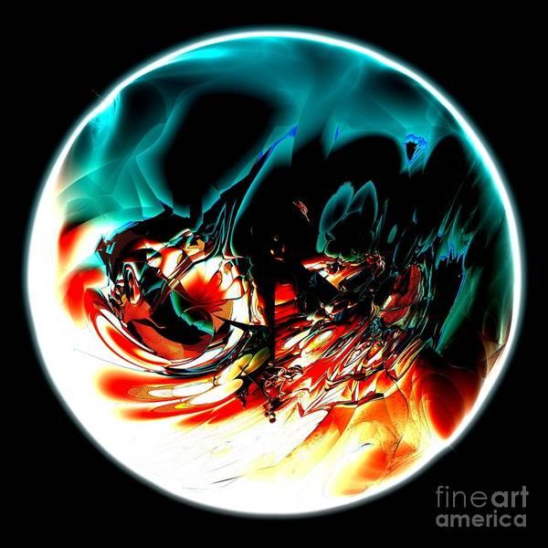 Digital Art - Crystal Planet by Bernard MICHEL