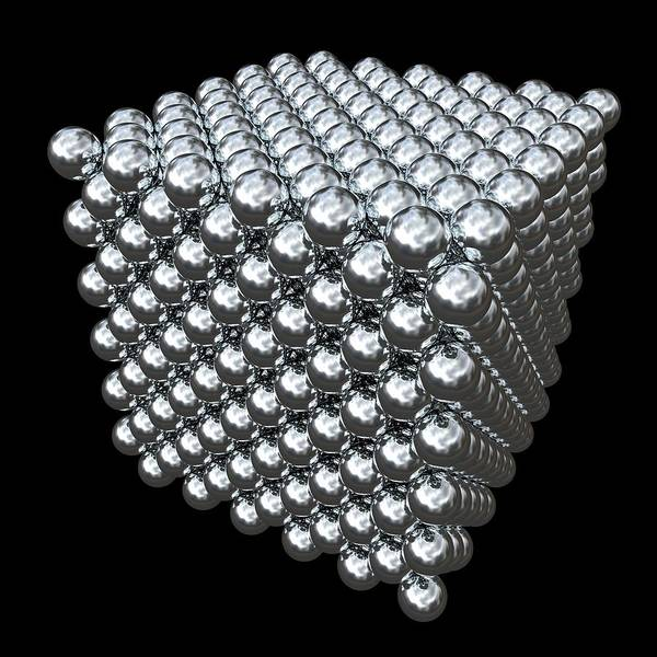 Cubic Wall Art - Photograph - Crystal Structure Of Thorium by Russell Kightley