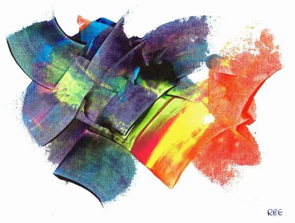 Painting - Crystaline Rainbows by Rosetta Elsner ARTist