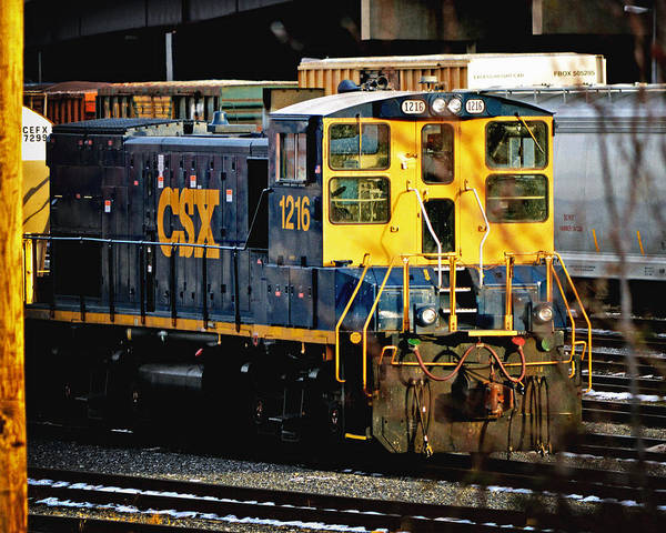 Photograph - Csx 1216 Switch Engine Emd Mp15t  by Bill Swartwout Photography