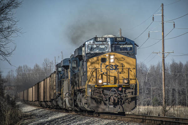 Subdivision Photograph - Csx T108 Southbound At Madisonville Ky by Jim Pearson