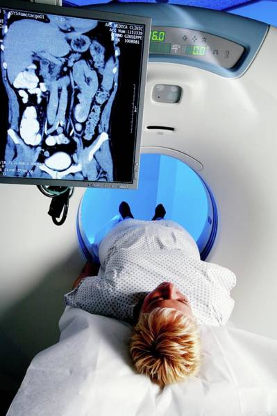Cts Photograph - Ct Scanning by Mauro Fermariello/science Photo Library