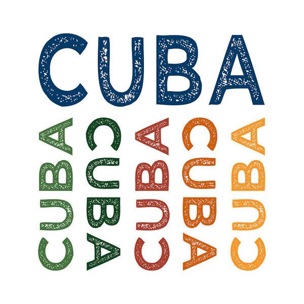 Cuba Wall Art - Digital Art - Cuba Cute Colorful by Flo Karp