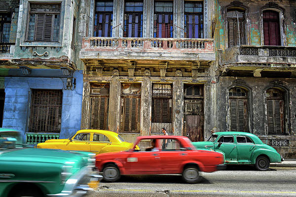 Motion Photograph - Cuba, Habana by Marc Trigalou