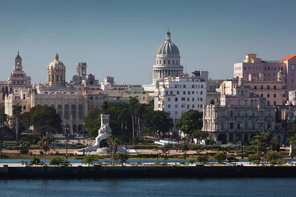 Castillo Wall Art - Photograph - Cuba, Havana, Elevated City View by Walter Bibikow
