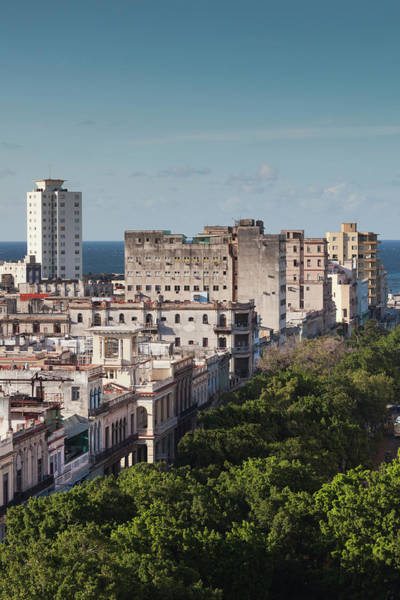 Prado Wall Art - Photograph - Cuba, Havana, Havana Vieja, Buildings by Walter Bibikow