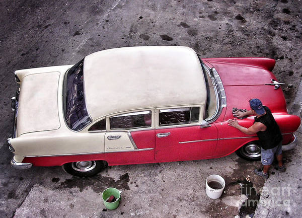 Car Wash Photograph - Cuba - La Habana - Bel Air Car Wash by Carlos Alkmin