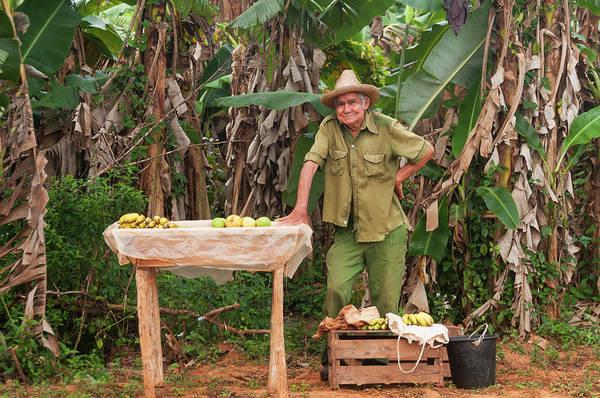 Hip Photograph - Cuban Man Selling Produce by John Elk Iii