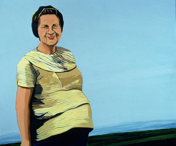 Pregnant Wall Art - Painting - Cuban Portrait No.9, 1996 by Marjorie Weiss