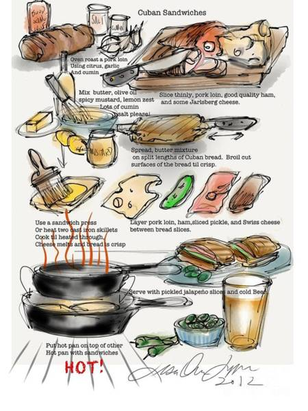 Painting - Cuban Sandwich by Lisa Owen-Lynch