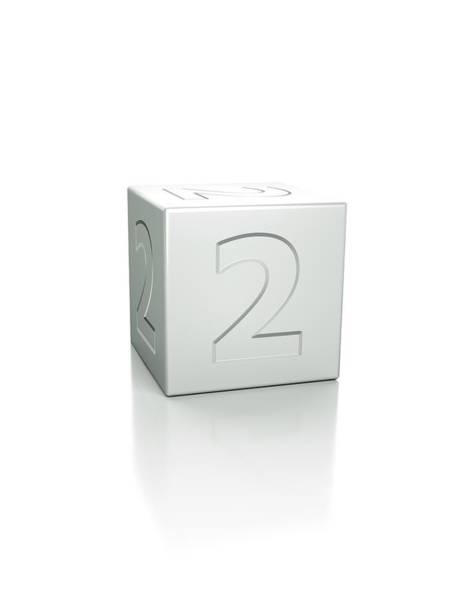 Wall Art - Photograph - Cube With The Number 2 Embossed by David Parker/science Photo Library