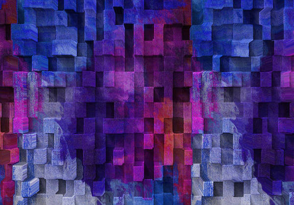 Visual Illusion Wall Art - Digital Art - Cubed 2 by Jack Zulli