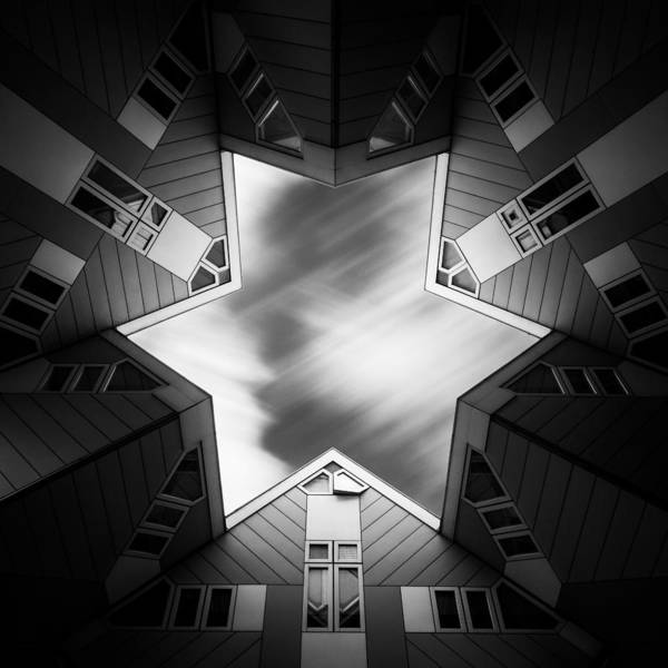 Cube House Wall Art - Photograph - Cubic Star by Dave Bowman