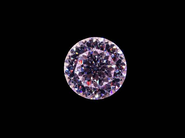 Cubic Wall Art - Photograph - Cubic Zirconia by Patrick Llewelyn-davies/science Photo Library