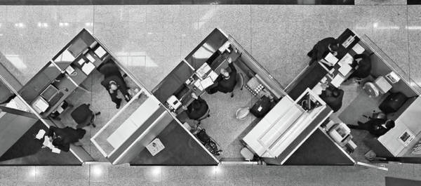 Businessman Photograph - Cubicle Life by Vincent Kohar