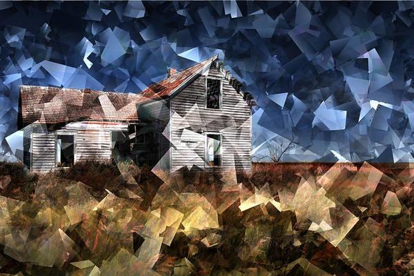 Cube House Wall Art - Photograph - Cubist Abandoned Prairie Farm House by Randall Nyhof